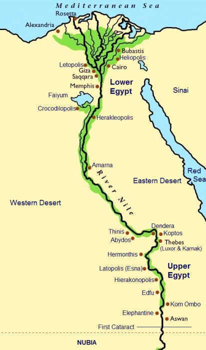 Maps Geography Cities Of Ancient Egypt For Kids - Map of egypt picture